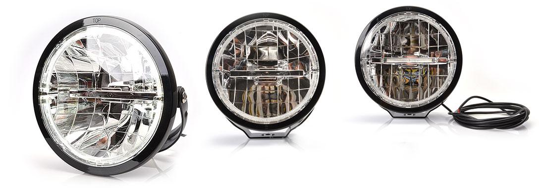 Przednie lampy drogowe, przeciwmgłowe i do jazdy dziennej - W116