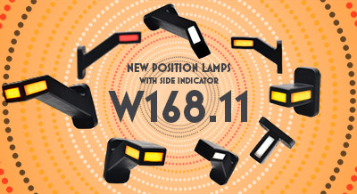 New position lamps with side indicator W168.11