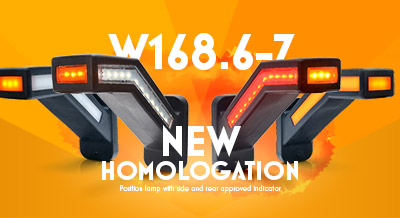 W168.6-7 New Homologation. Position lamp with side and rear approved indicator