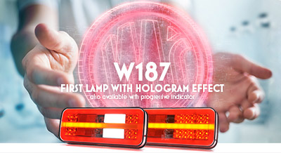 W187 - first lamp with hologram effect also available with progressive indicator
