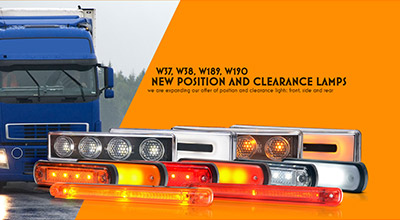 we are expanding our offer of position and clearance lights: front, side and rear