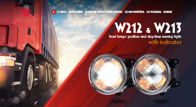 W212 & W213 - front lamps: position and day-time running lights with indicator